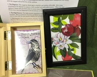 Princess of Pentacles BirdQueen Tarot Gift Set- SPECIAL