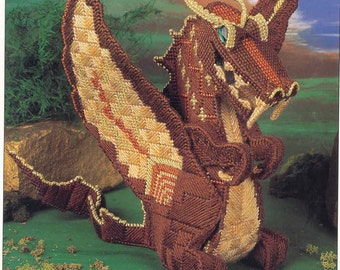 Dragon Sculpture ~ plastic canvas pattern  ~  New Condition ~  Annie's