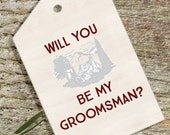 Printable Groomsman Whiskey Wine Tag - Will You Be My Groomsman -  Wedding Stationery - INSTANT DOWNLOAD