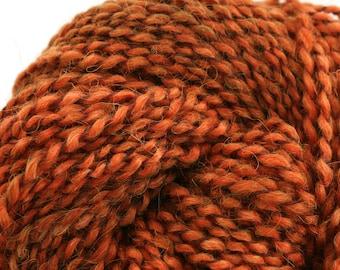 Middlefield Hand Dyed aran weight wool alpaca blend 200 yds 4oz Spice Cake