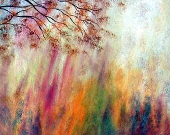 Photo Print -  Autumn Sweeping Trees # 2-   8 x 10 - BUY 2 get 1 FREE