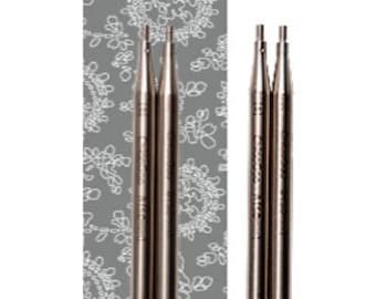 ChiaoGoo 5 Inch (13 cm) TWIST Lace Stainless Steel Knitting Needle Interchangeable Tips (All Sizes)