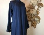 Fall sale Vintage kimono blue kimono japanese robe quilted kimono antique kimono winter kimono