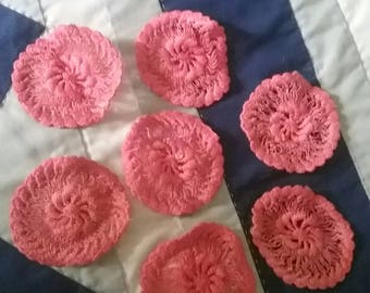 Seven Charming Crocheted Medallions FREE SHIPPING tnt