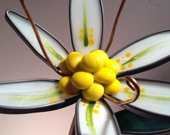3-d Stained Glass Lily - Birthday, Mothers Day , Wedding , sympathy gift,