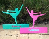 Wooden dance sports medal holder personalized