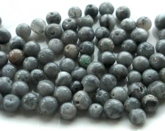 Grey Beads 4mm Round 85+ pieces