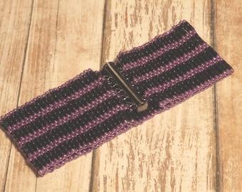Dark Purple Bugle Bead Bracelet