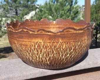 SALE Large Serving Bowl Rocky Mountain - REDUCED PRICE