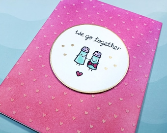 Valentine's Day Card - Handmade Stamped Card!