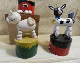 Farm push puppets