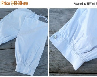 ON SALE 20% Vintage Edwardian French white cotton part of sleeves to protect clothes
