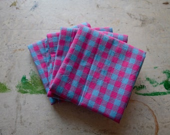 Cotton Candy Gingham Napkins (Set of 4)