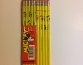 Vintage Mickey Mouse 10 Pencils Disney