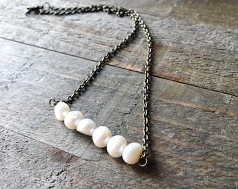 Brona necklace - CREAM