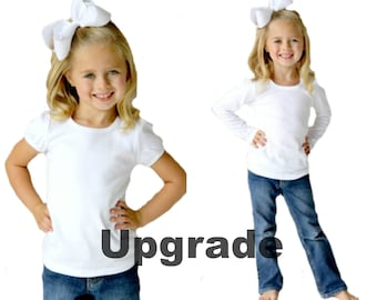 Upgrade any shirt listing to a Short sleeve or Long sleeve Puff Sleeve Shirt - Listing to be purchased with a custom shirt listing ONLY!