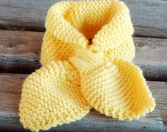 hand knitted lotus leaf neck scarf name a color