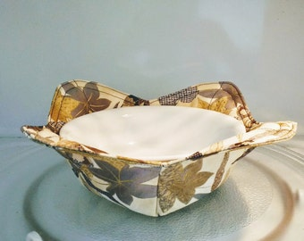 Microwave Hot Soup Bowl & Ice Cream Bowl Holder - Hot Dish Pad - Heat Protector - Thank You Gift - Back To School -