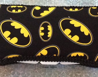 Batman Boutique Travel Wipe Case  Baby Shower Gift