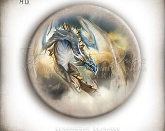 Dragon Art / Magnet / Needle Minder / Fridge Magnets / Refrigerator Magnet / Cross Stitch / Magnet Set / Fantasy Art / You Choose Design