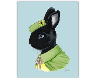 Black Rabbit art print by Ryan Berkley 5x7