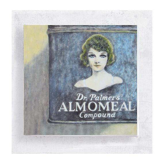 Woman Portrait  Art - Realism - Still Life - Canvas Print on 5x5 art Block - Almomeal Girl in Blue - Art Deco Style - Wall Art - Home Decor