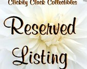 Reserved for AdaJane: Cutouts, Stackers and Acorns