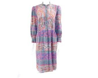 1970s Maxi Dress// Vintage Floral Boho Dress //  Floral Fall Dress // 131