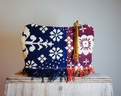 Primitive Coverlet and Leather Pouch//Reversible