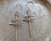 Knights Templar Joan of Arc Cross of Lorraine Crusaders Cross Heraldry Earrings