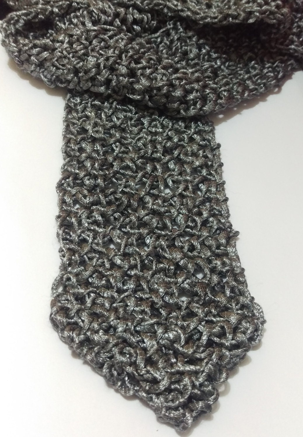 Chain mail crochet scarf pattern fantasy medieval from this is a digital file bankloansurffo Image collections