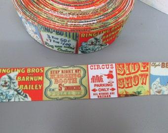 Circus 2.5cm Grosgrain Ribbon x 1 metre