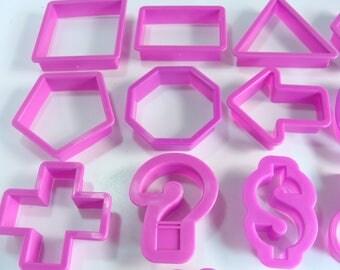 Purple Plastic Shapes 13 Piece Cookie Cutter Set