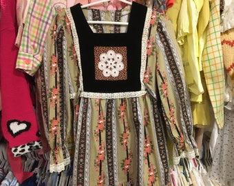 1970s Girls Dress 6/7