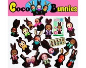 kewpie stickers cute chocolate bunny babies boopsiedaisy sticky poos
