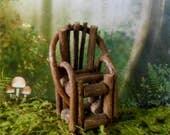 Miniature Chair~ 3 1/2 Inch Twig Vine Chair~Fairy Garden Chair~Miniature Garden Chair~Fairy Garden Furniture~Fairy Garden Accessory