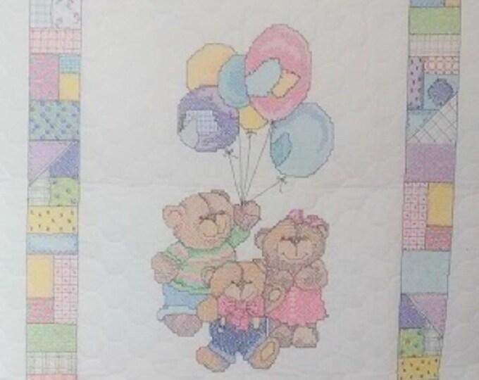 Balloon Bears Crib Quilt