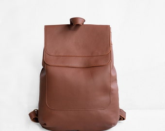 Leather Backpack in Sienna Brown / Leather Backpack / Leather Bag / Brown Leather Bag / Big Backpack / Brown Backpack / Laptop Backpack
