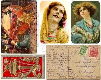 Elizabeth Sonrel Neoclassical Greek Greece Antique Ephemera Digital 8x10 Page