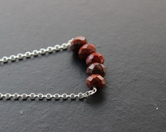 Brecciated Jasper Sterling Silver Necklace