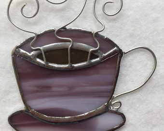 Stained Glass Ornament - Coffee Mug