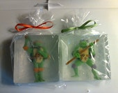 Ninja Turtle Soap..TMNT in a Soap..Turtle Power Party Favor...TMNT Birthday Party....Boy's gift idea....Stocking gift for a boy