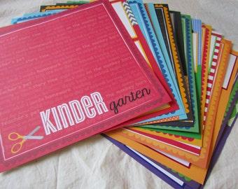 SCHOOL SCRAPBOOK - premade pages for 12x12 ScHooL DaYs album - 15 layouts ~ Kindergarten - Grade 6, graduation, elementary years, girl, boy