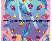 Lisa Frank Spotted Dolphins Sticker Sheet S385 vintage