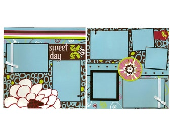 Sweet Day - Premade Scrapbook Page Set