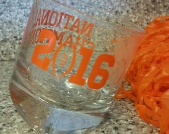Tilted Whiskey Glass - National Champions 2016