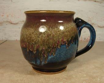 Handmade Pottery Mug - Northern Lights Glazes - Stoneware