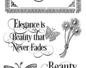 SALE PREORDER Graphic 45 Portrait of a Lady  Stamp  Set 1