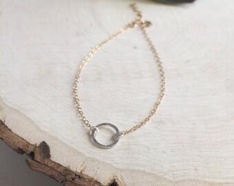 Two Tone Elegant Bracelet - Circle