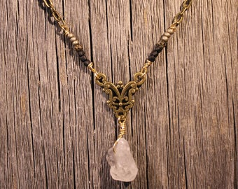 Quartz Filagree Necklace